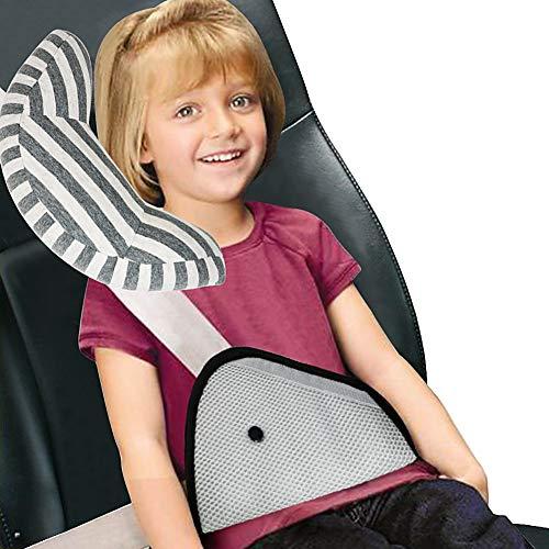 Vamei Oreiller sur ceinture de sécurité pour enfants Coussin ajusteur de ceinture de sécurité pour enfant Ceinture de sécurité Coussin de soutien pour le cou