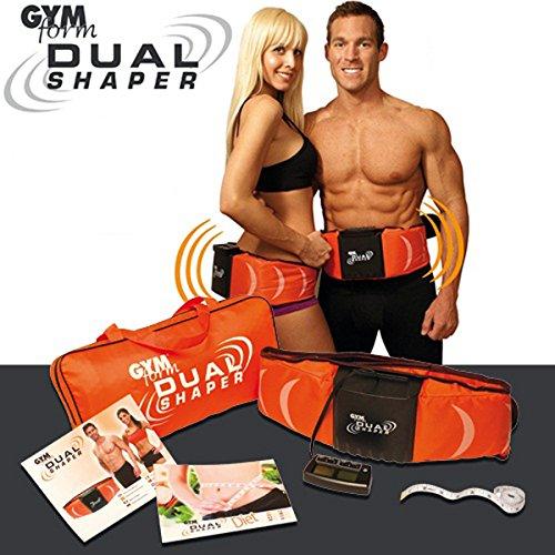 Original GymForm Dual Shaper - La correa de adelgazamiento Dual Action con vibración y electroestimulación - cinturón de electromusculación EMS Estimulador Muscular