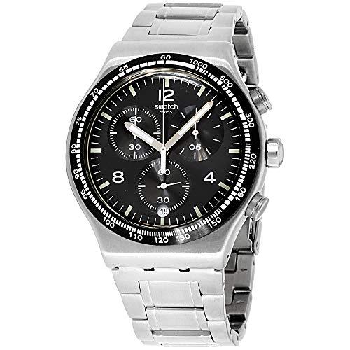 Swatch Reloj Cronógrafo para Hombre de Cuarzo con Correa en Acero Inoxidable YVS444G