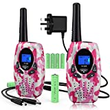 Topsung Walkie Talkies for Kids,3 Mile Range Rechargeable Two Way Radios with VOX