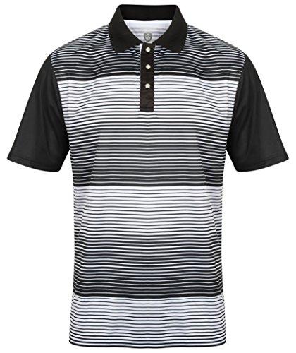 Hochwertiges Polo-Shirt Marke ISLAND GREEN Gr. 52, 1641 - black