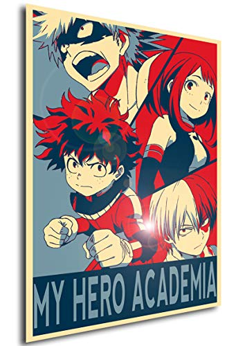 Instabuy Poster My Hero Academia Propaganda Characters - Cartel (70x50 cm)