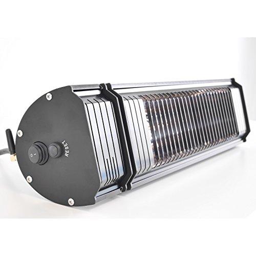 VASNER Appino 20 Infrarot Heizstrahler Terrasse schwarz, 2000 Watt, Fernbedienung + App Steuerung Bluetooth, Terrassenstrahler Außenbereich, Bad, Infrarotstrahler, elektrisch - 3