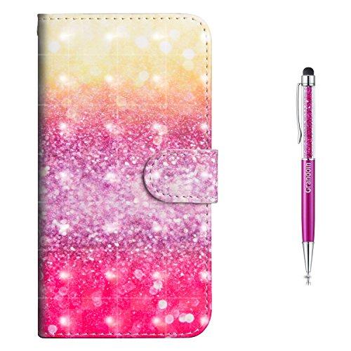 Preisvergleich Produktbild Grandoin Nokia 7 Plus Hülle,  Handyhülle im Brieftasche-Stil für Nokia 7 Plus Handytasche PU Leder Flip Cover 3D Bunte Muster Book Style Case Schutzhülle (Mehrfarbig)