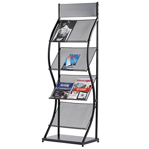 Porte-magazines et porte-journaux Etagères De Revues Black Iron Simple Bookstand Landing Office Home Display Stand (taille : 50 cm)
