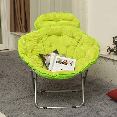 Chaise, maison extérieure grande adulte lune chaise chaise longue chaise paresseuse radar chaise inclinable chaise pliante chaise arrière chaise (Couleur : B)