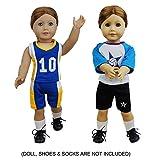 ZITA ELEMENT 4 Stück Uniform Puppenkleidung für 45cm 46cm Babypuppe und American 18 Zoll Girl Dolls Freizeitkleidung Sport Kleidung Bekleidung Puppe Outfit Oberteil Hose