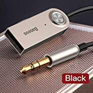 OUYAWEI Portable For BASEUS USB Bluetooth Adapter Dongle Cable for Car 3.5mm Jack Aux Bluetooth Receiver Speaker Audio Music