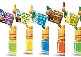 5 Stück elegante Duftflakons fürs Auto Autoduft Lufterfrischer tropischer Früchte Mix: Ananas, Kokosnuss, Pina Colada, Tropical Sensation, Ocean