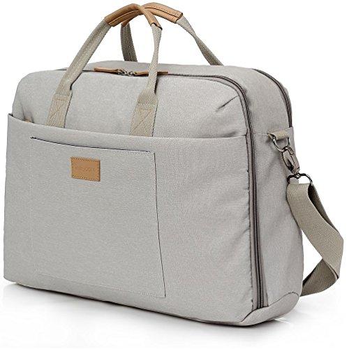 """deleyCON Notebook-Tasche bis 13,3"""" Zoll (33,7cm) Laptop Notebook Netbook MacBook Tragetasche Schultertasche Schutztasche Leinengewebe Hellgrau"""
