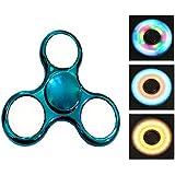 Spinner,CAMTOA LED leuchtende Licht 3 Modus Hand Spinner Finger Spielzeug, perfekt für ADD,ADHS,Angst und Autismus Erwachsene Kinder Fidget Toys