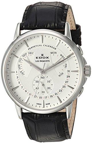 Edox Reloj Cronógrafo para Hombre de Cuarzo con Correa en Cuero 01602-3-AIN