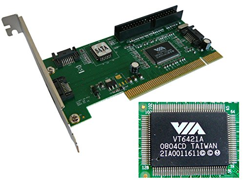 PCI Controller Karte 3Ports SATA, 1Port IDE RAID 0, RAID 1, RAID 0+1, JBOD