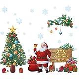 Kesoto Adesivi da Parete di Natale Adesivi di Babbo Natale, Albero di Natale Decorazione di Natale per Casa, Cameretta di Bambini, Adesivi da Parete di Fai-da-te, circa 45 x 60 cm