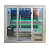 EO-SPA Sauna B1216A Pappelholz 200x120 9kW EOS BiO-Thermat