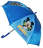 Unbekannt Regenschirm Mickey Mouse - Automatik - Kinderschirm 66 cm lang - für Kinder Stockschirm Schirm - Jungen Mädchen Schirm Donald Maus Micky Kinderregenschirm