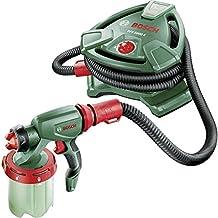 Bosch PFS 5000 E - Sistema de pulverización de pintura (2 depósitos para pintura, boquilla para pintura de paredes, filtro para pintura, cepillo de limpieza, caja de cartón)
