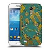 Head Case Designs Bienen Koenigin Gestickter Druck Zitate Soft Gel Hülle für Samsung Galaxy S4 Mini I9190