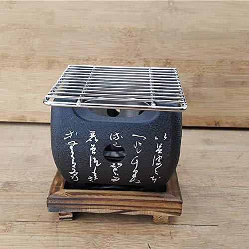 Parrilla de mesa para barbacoa, tradicional japonés Hibachi, parrilla de mesa portátil,...