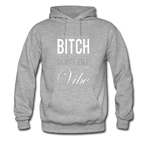 HKdiy Bitch Don't Kill My Vibe Custom Men's Classic Hoodie Gray