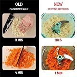 Trackindia Pull String Manual Food Processor Chopper/Mincer/Blender to chop Fruits, Vegetables, Nuts, Herbs & spicely Onions, Garlic, Carrot, Chilly for Salsa, Salad, Pastry & Coleslaw.