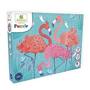DARPEJE- Flamenco-100 Piezas de Puzzles-Sycomore Faujas (PUZ005), (1)