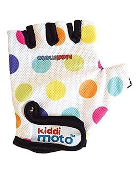 Kiddimoto 2gl011m Guanti Bici Per Bimbi, Bambina, Pastel Dotty, M