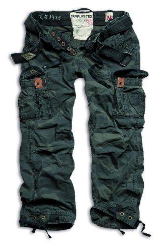 Surplus Herren Cargo Hose Gr. XXX-Large, Noir - Noir camouflage (Vintage Schwarz Army Air)