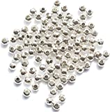 Metal Spacer Beads - Silver Plated - 200 - 4mm