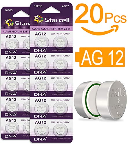 Act 20 Alkaline Knopfzellen ohne Quecksilber AG12/LR43/LR1142/386/1,5 Volt