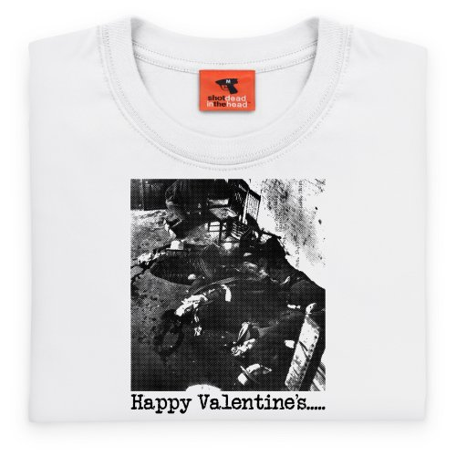 Valentines Day Massacre T-Shirt, Herren Wei