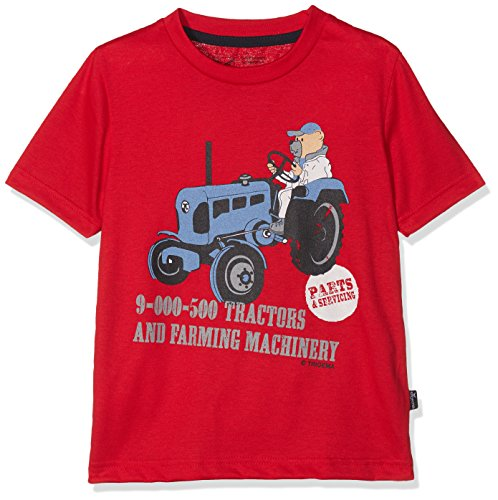 Trigema Jungen 33626118 T-Shirt, Rot (Kirsch 036), 116