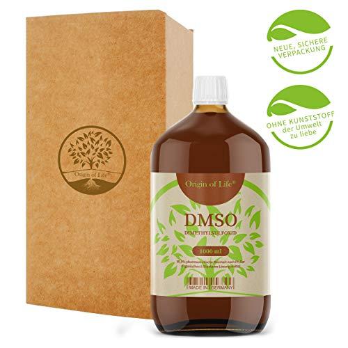 DMSO 1000ml 99.9% Reinheit - pharmazeutisch Rein nach Ph. Eur. - unverdünnt - Dimethylsulfoxid - ohne Zusatzstoffe - DMSO 1L - Made in Germany