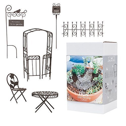 "Mini-Gardenset ""Romantic rusty"", 8tlg"