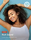 Bluetooth Headphones, Anker SoundBuds Slim+ Wireless Headphones, Bluetooth 4.1 Lightweight Stereo Earbuds with aptX High Resolution HD Sound and Customizable Accessories, IPX5 Waterproof Rating Sports Headset with Metallic Housing & Built-in Mic (Black)