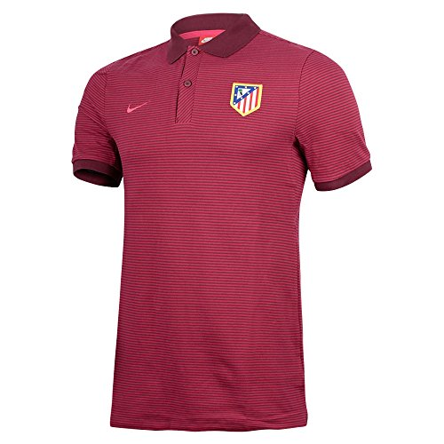 Nike ATM M NSW GSP PQ AUT - Polo manga corta Atlético de Madrid para hombre, color morado, talla XL