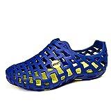 Gracosy Chaussures de Plage Homme Femme - Bleu Roi/Jaune - 37 EU