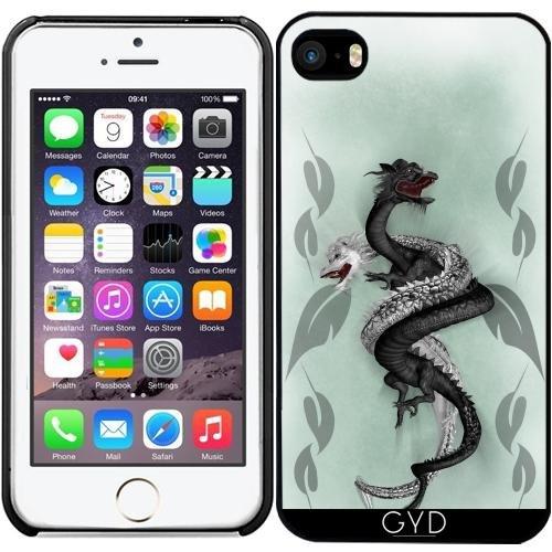 Leder Flip Case Tasche Hülle für Apple iPhone 6/6S - Double Dragon by Illu-Pic.-A.T.Art Starre Kunststoff