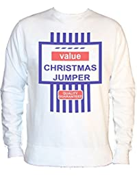 Xlarge White Tesco's Funny Value Christmas Jumper Tesco Black Friday Sweatshirt