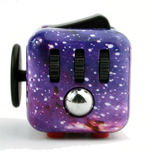 Fidget Cube Relieves Stress And Anxiety, Fidget Toy Fun Cube Anxiety Attention Toy for Children and Adults with ADHD ADD OCD Autism-Starry sky