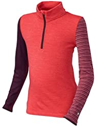 Smartwool Mid 250Pattern cremallera–Camiseta morado Heather, Unisex, Mid 250 Pattern, Aubergine Heather