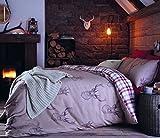 Catherine Lansfield Parure de lit Double Motif cerfs Multicolore, Coton, multicolore, Double