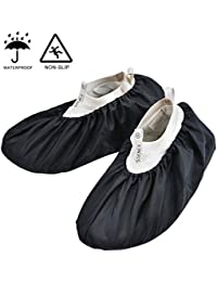 Premium Reusable Shoe and Boot Covers for Contractors, Durable Non-Slip Water-Resistant