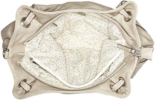 Gabor Damen Emilia Schultertasche, 18x27x37 cm Grau (Stone)