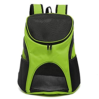 Aoxsen Dog Cat Puppy Rabbit Pet Backpack Double Shoulder Bag Pet Carrier Portable Front Back Airline Travel Approved Carriers Cage Backbag with Breathable Mesh Window for Traveling, Outdoor Camping
