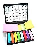 Notes repositionnables megabox 2000 feuilles étiquettes autocollantes en 11 couleurs 3 formats, pliantes en cuir-avec pochette plastique