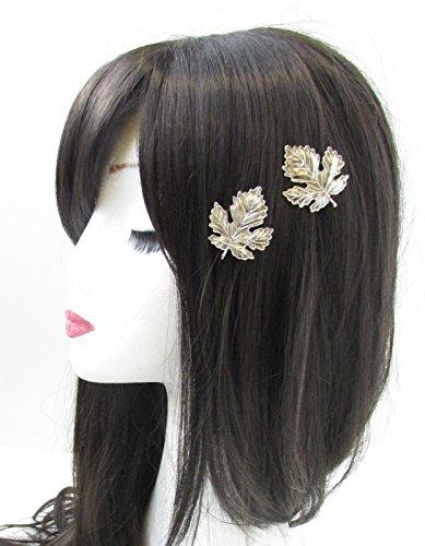 2 x Feuille d'argent cheveux clips épingles Vintage grecque romaine Boho Woodland mariée V67 * * * * * * * * exclusivement vendu par – Beauté * * * * * * * *