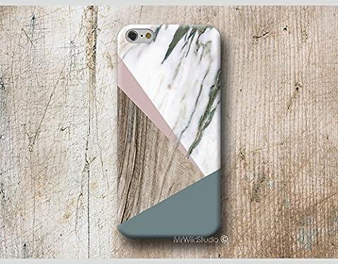 Marbre rosa bois Print Coque Étui Phone Case pour iPhone 4 4s 5 5s se 5C 5se 6 6s 7 8 Plus iPod 5 6