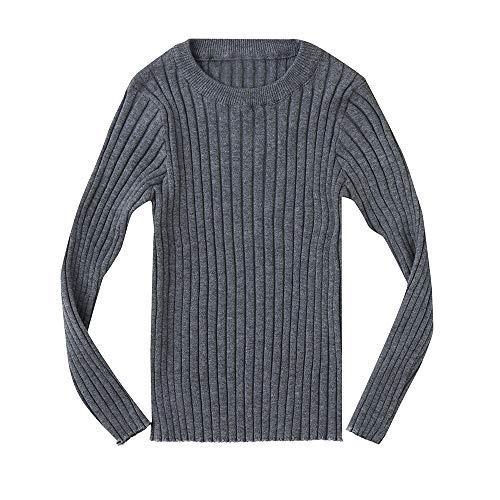 96f2efcd68f9f Sunenjoy Bébé Garçons Filles Pull Manches Longues Chandail Tricoté Sweater  Doux et Chaud Blouse Côtelé Top