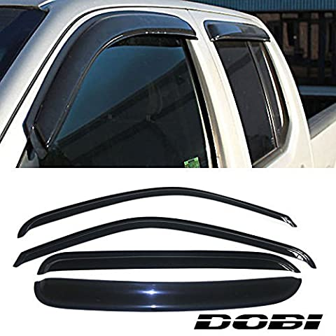VioletLisa 4pcs Front Rear Smoke Sun/Rain Guard Vent Shade Window Visors For 99-00 Chevy/GMC C2500/K2500 92-00 C3500/K3500 Crew Cab 92-99 Suburban 95-99 Tahoe Yukon 99-00 Cadillac Escalade by